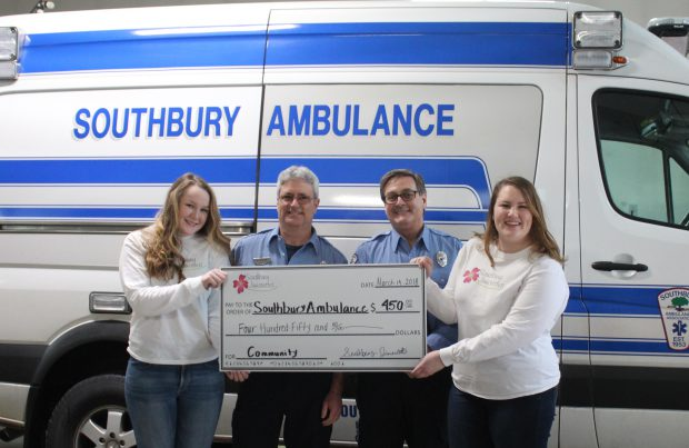 Juniorette Donates Bake Sale Proceeds to Southbury Ambulance